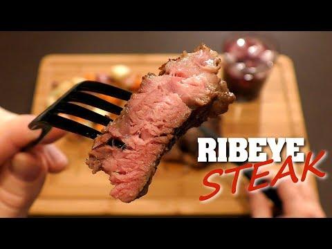Asmr Eating A Rib Eye Steak With Sauteed Mushrooms Doovi
