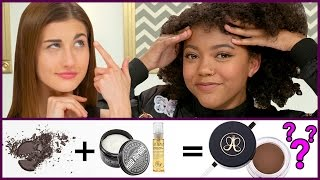 CHEAP DIY EYEBROW GEL POMADE?!   Makeup Mythbusters w/ Maybaby and Maia Noelle