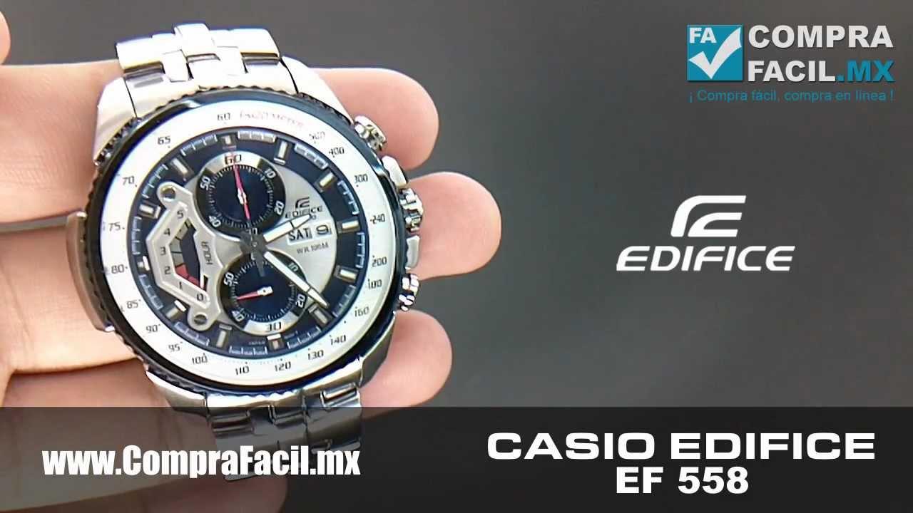 7f908862bf83 Reloj Casio Edifice EF 558 - CompraFacil.mx - YouTube