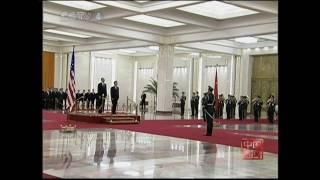 胡錦濤主席主持儀式歡迎奧巴馬訪華 Hu hosts welcome ceremony for US President Obama
