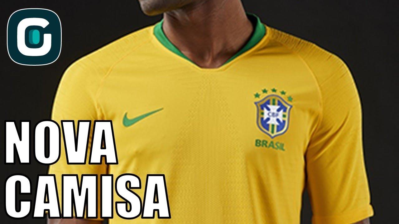 d4b00a2d29 Novos uniformes da seleção brasileira- Gazeta Esportiva (21/03/18 ...
