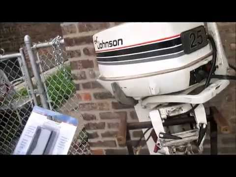 installing a 25hp Johnson outboard on a jon boat