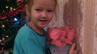 Настя и Миша открывают подарки на Новый Год 2017