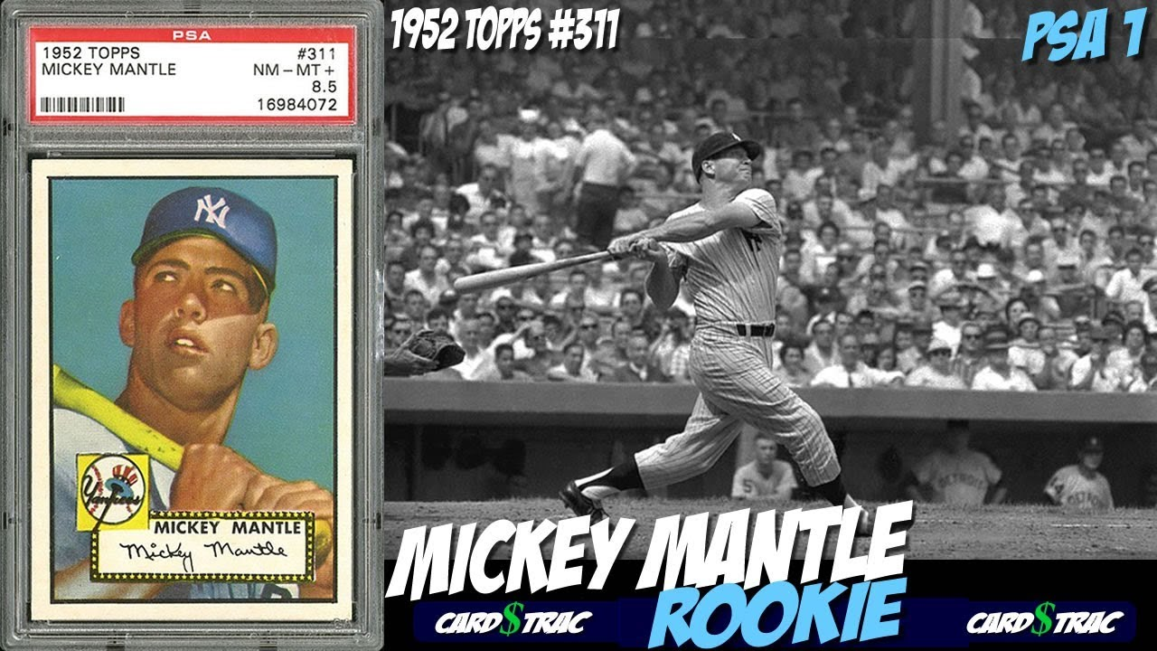 1952 Mickey Mantle Rookie Card Topps 311 Psa 1