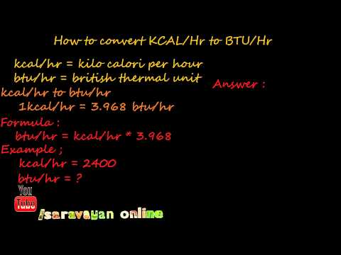 how to convert kilocalorie (kcal) per hour to british thermal unit (btu) per hour