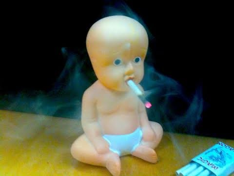 Cigarette Smoking Baby Wtf Watch The Baby Smoke A