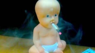 CIGARETTE Smoking BABY! WTF! Watch the Baby Smoke a Cigarette! Chain Smoking?