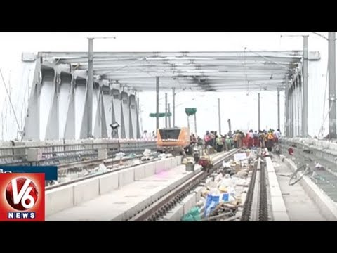 Hyderabad Metro : Oliphant Steel Bridge Metro Works Completed | V6 News