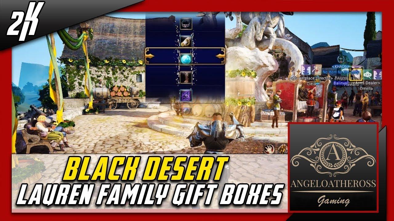 Black Desert Lauren Family Gift Boxes Opening x32 RNG - YouTube