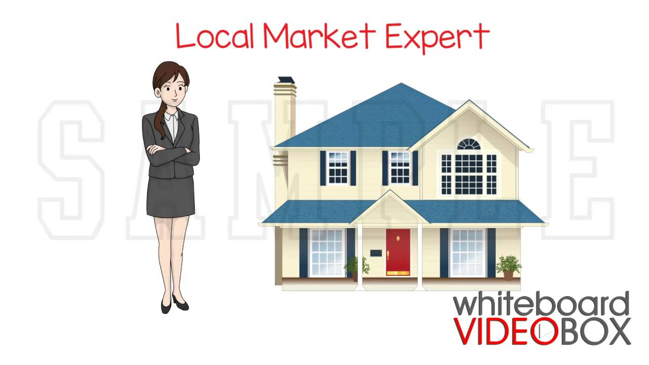 Female Real Estate Agent Whiteboard Video Animation 1 Sample