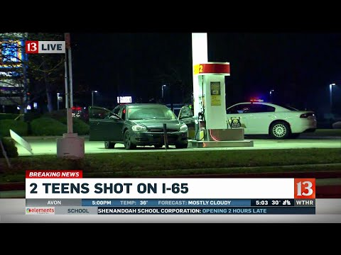 2 teens shot on I-65