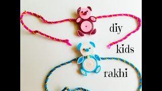How to make rakhi at home||kids rakhi making ||Quilling Rakhi