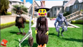 BRAND NEW WITCH TOY CHICA ANIMATRONIC! (GTA 5 Mods For Kids FNAF RedHatter)