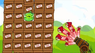Angry Birds Cannon 4 - OVERDRIVE SHOOTING MAXIMUM BIRDS TO TNT PIG