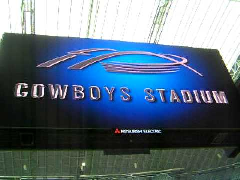 Cowboys Stadium HDTV the Largest TV in the WORLD!!!!