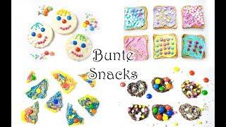Bunte süße Snacks für Kinder: perfekt für Fasching oder Kindergeburtstag 🎉 🎉 🎉