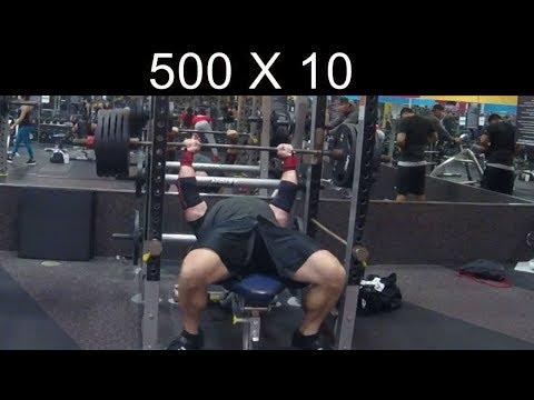 500 Lb Bench X 10 Reps