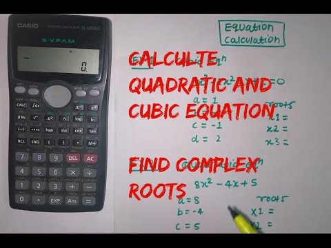 How To Solve Quadratic And Cubic Equation Using Calculator