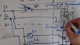 Electricité 1- Montage à relais  Schéma de principe
