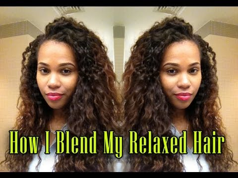 blend relaxed hair