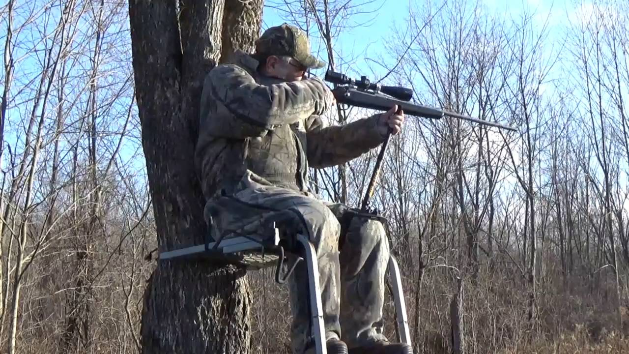 Gun Holder Video Used on a Climber Treestand - YouTube