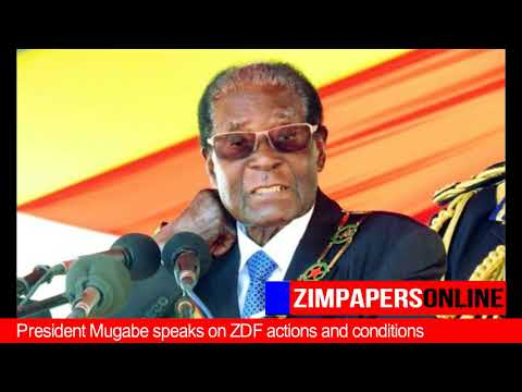 Speech by President Mugabe at the 37th Zimbabwe Defence Forces Day celebrations