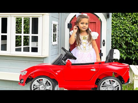Nastya and Artem play with Mia - stories for children about games