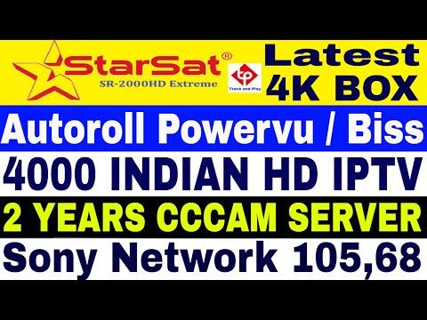 Starsat 2000 HD Extreme , Latest 4K Set top box,Autoroll powervu