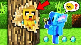 ¡NOS ESCONDEMOS DENTRO DE UN ARBOL!🌲😱 - MINECRAFT ESCONDITE #7
