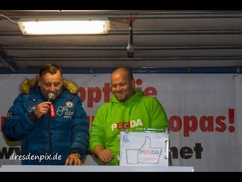 Knaller bei Pegida 28.Nov.16 - Siegfried Däbritz will in Meißen kandidieren AfD