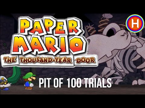 PIT OF 100 TRIALS (5HP & POWER RUSH badge) - Paper Mario: The Thousand-Year Door