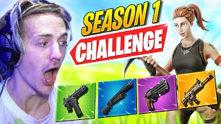 FORTNITE SEASON 1 CHALLENGE W/ @SypherPK , @Myth  & @Typical Gamer