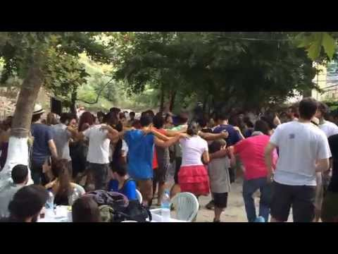 Ikariotiko dance at the festival/panigiri 6/Aug/2015 in Stavlos, Ikaria, Greece