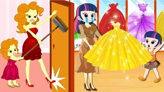 Equestria Girls Kids School cheatting Makeup Contest In Class Animation Collection