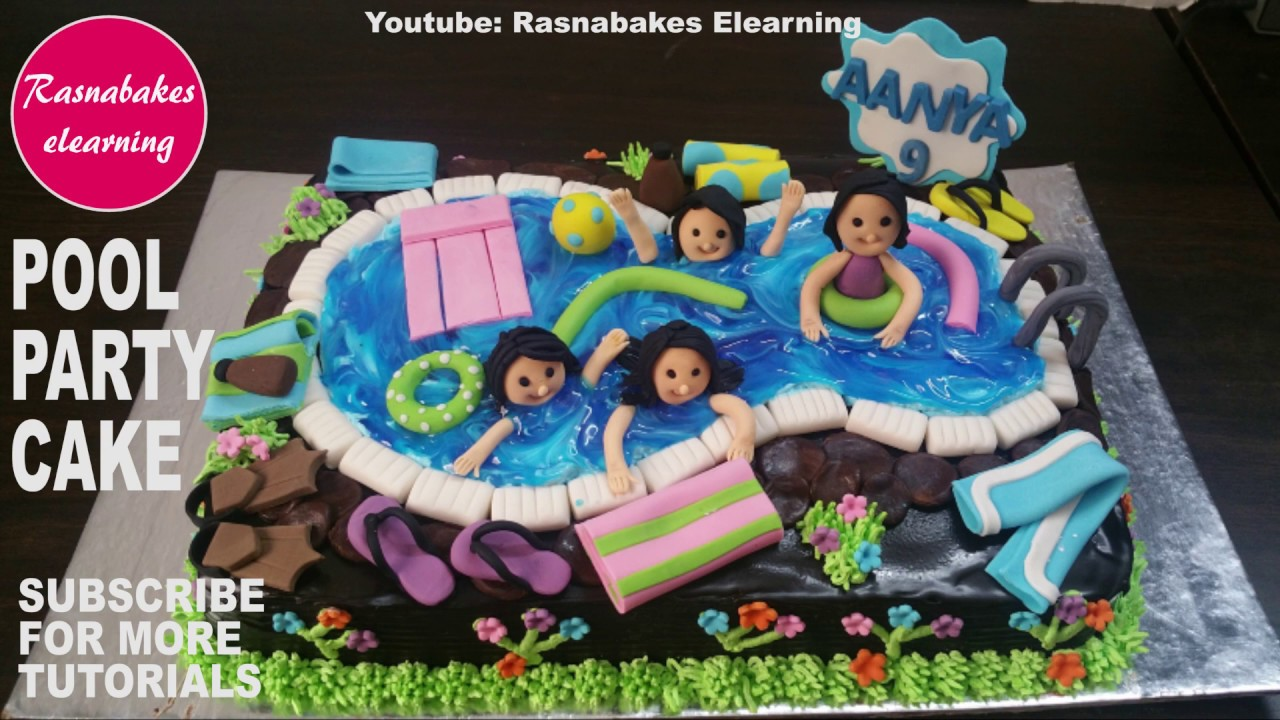 Happy Birthday Cakepool Party Cake For Kids Boys Girls Homemade Bakery Maker Videos Recipes Design