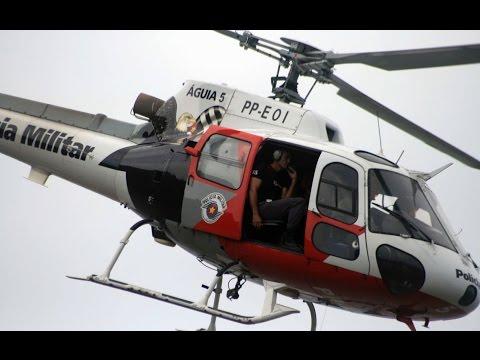 EP13Grupamento Aéreo da Polícia Militar (PMESP) Aguias da cidade EP13 (HD)