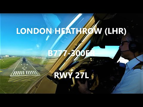 Cockpit View B777 Heathrow Landing