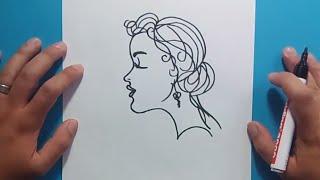 Como dibujar la cara de una mujer paso a paso | How to draw the face of a woman