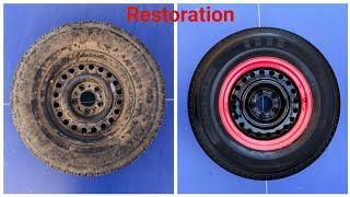 Super Rusty Wheel Restoration تجديد ورش جنط الحديد