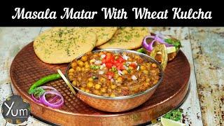 Masala Matar With Wheat Kulcha