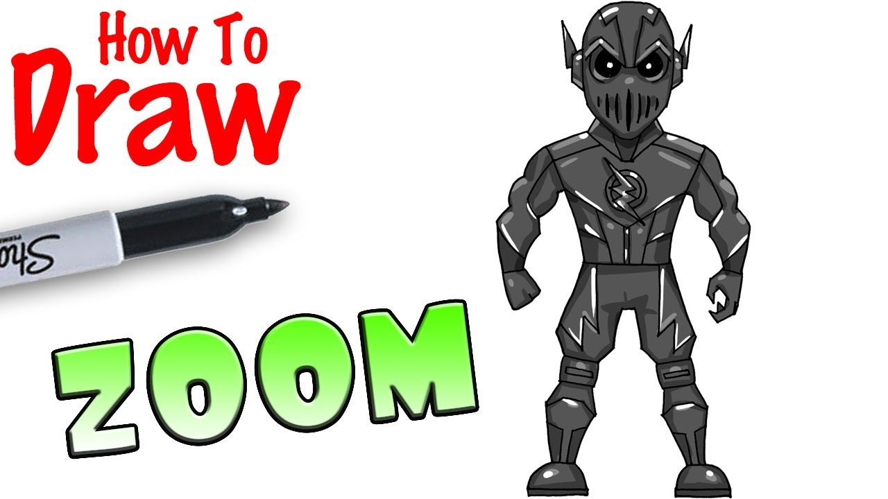 How To Draw Zoom Flash Youtube