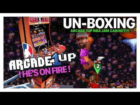 Un-Boxing: NBA Jam Arcade 1up FOUR PLAYER CABINET w/WiFi !! from Breakneck TV