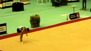 Floor exercises - Double salto piked with 1/2 twist (E)