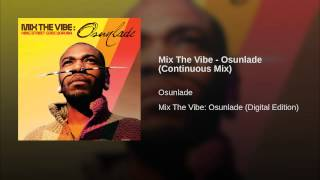 Mix The Vibe - Osunlade (Continuous Mix)
