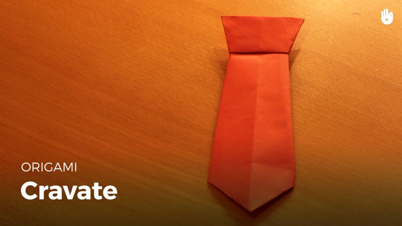 faire une cravate en papier origami youtube. Black Bedroom Furniture Sets. Home Design Ideas