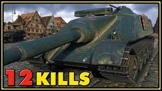 AMX 50 Foch - 12 Kills - 1 VS 6 - World of Tanks Gameplay