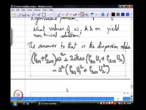 Linear stability analysis - Cylindrial jet instability-2