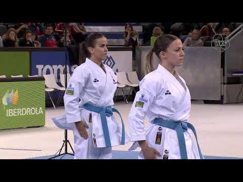 MOR vs ESP Female Kata Team. Madrid K1 Premier League 2019 Bronz Medals
