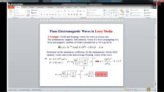 Electromagnetic waves and Transmission lines 09-01-2019