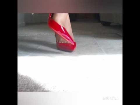 a05df01034 Christian Louboutin Iriza Half D'orsay Pump Review, Pavot Red (see  description box) - YouTube